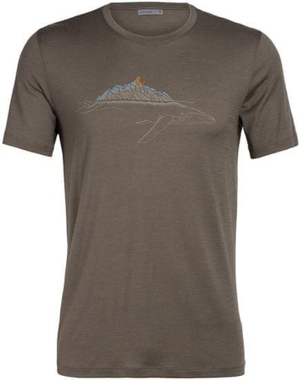 Icebreaker pánske merino tričko Tech Lite SS Crewe Whitecap (104952208), L, hnedá