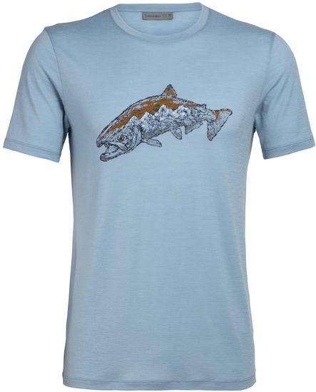 Icebreaker pánske merino tričko Tech Lite SS Crewe Tetons (104953439), XL, modrá