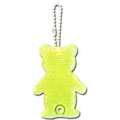 Maxpack Reflexní přívěsek bezpečnostní Medvěd žlutý