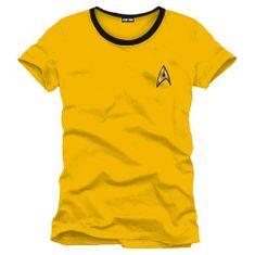 Cotton Division Tričko Star Trek - Uniforma (žluté)