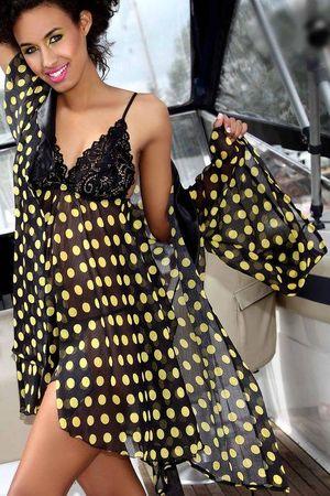 Pigeon Női kombiné P-328 yellow + Nőin zokni Gatta Calzino Strech, fekete-sárga, XL