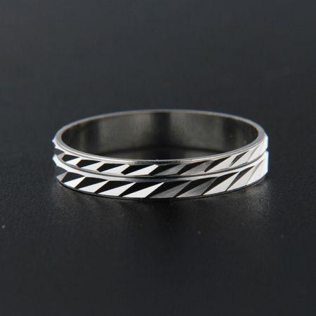 Amiatex Ezüst gyűrű 13840 + Nőin zokni Gatta Calzino Strech, 63