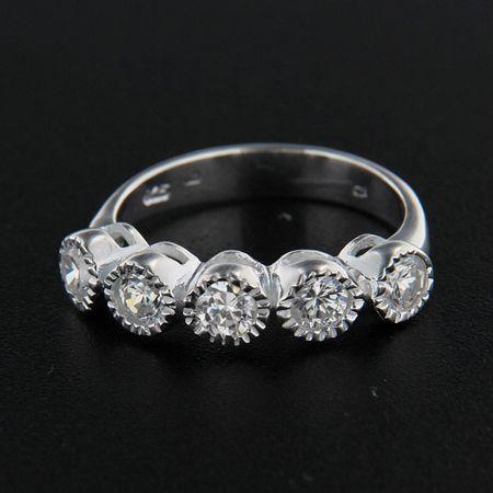 Amiatex Stříbrný prsten 14352, 53