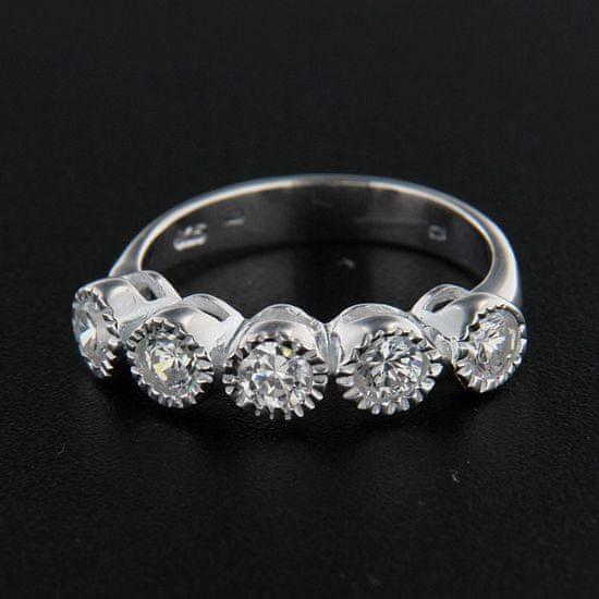 Amiatex Stříbrný prsten 14352, 55