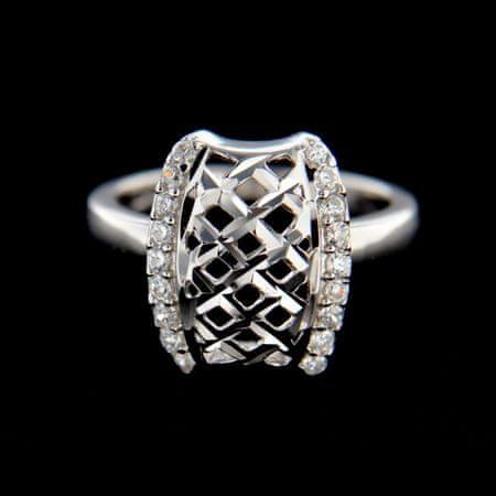 Amiatex Ezüst gyűrű 14833, 51