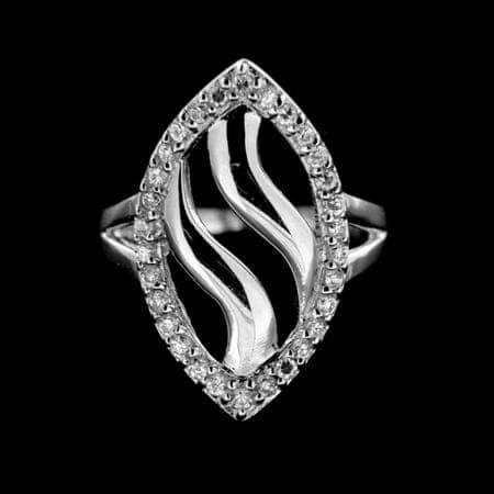 Amiatex Ezüst gyűrű 14919 + Nőin zokni Gatta Calzino Strech, 56