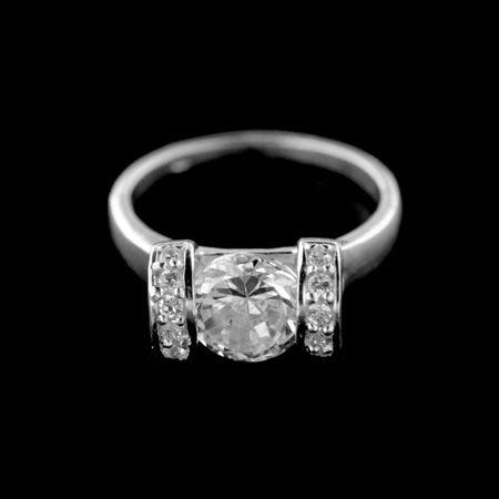 Amiatex Ezüst gyűrű 15229, 55