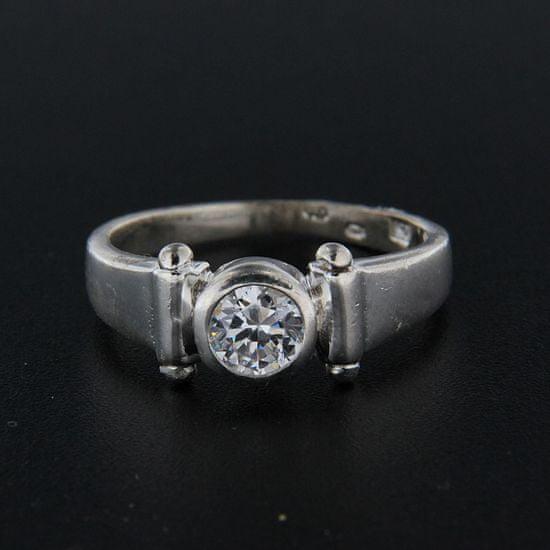 Amiatex Strieborný prsteň 15410, 58