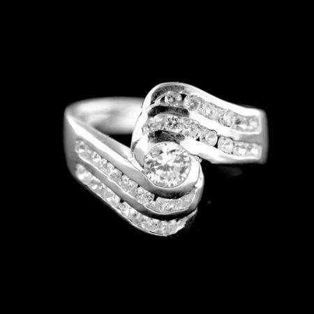 Amiatex Ezüst gyűrű 34665 + Nőin zokni Gatta Calzino Strech, 51