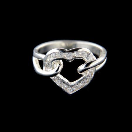 Amiatex Ezüst gyűrű 34655, 54