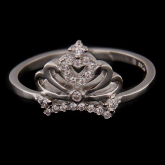 Amiatex Strieborný prsteň 56223 + Nadkolienky Sophia 2pack visone, 54
