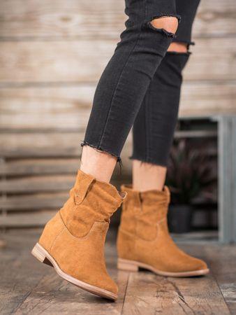 Női bokacipo 60853 + Nőin zokni Gatta Calzino Strech, bézs és barna árnyalat, 40