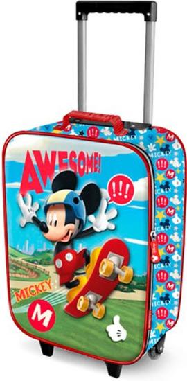 KARACTERMANIA Kufr na kolečkách Mickey Mouse 46cm 3D modrý