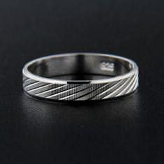 Amiatex Strieborný prsteň 13838 + Nadkolienky Sophia 2pack visone