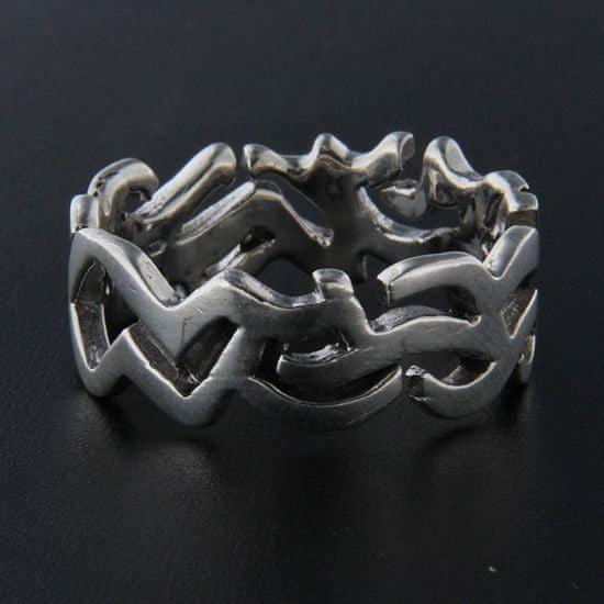 Amiatex Strieborný prsteň 13948 + Nadkolienky Gatta Calzino Strech, 58