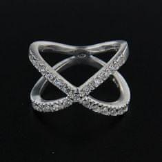 Amiatex Stříbrný prsten 14269 + Ponožky Sophia 2pack visone