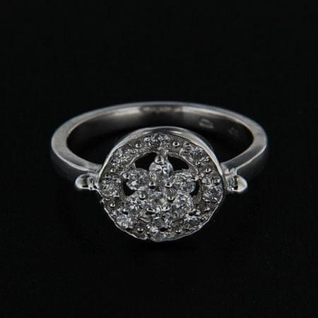 Amiatex Ezüst gyűrű 14255 + Nőin zokni Gatta Calzino Strech, 52