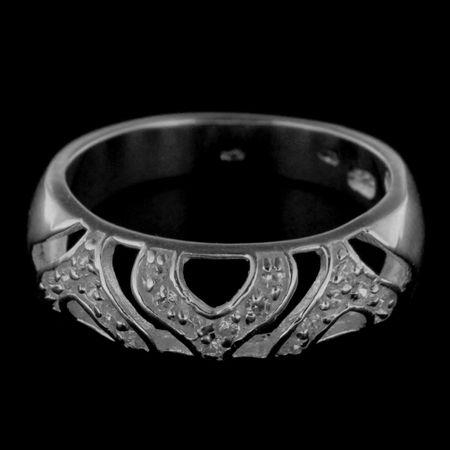 Amiatex Ezüst gyűrű 14250 + Nőin zokni Gatta Calzino Strech, 53