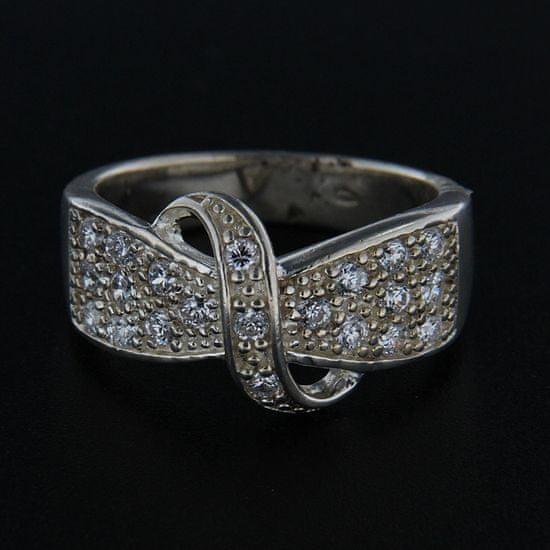 Amiatex Strieborný prsteň 14307 + Nadkolienky Sophia 2pack visone, 55