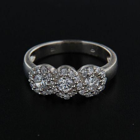 Amiatex Ezüst gyűrű 14263 + Nőin zokni Sophia 2pack visone, 57