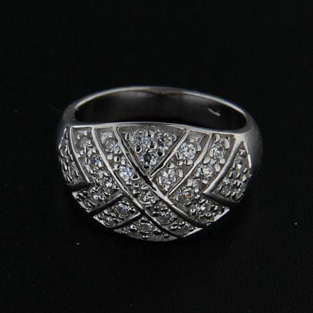 Amiatex Ezüst gyűrű 14270 + Nőin zokni Gatta Calzino Strech, 52