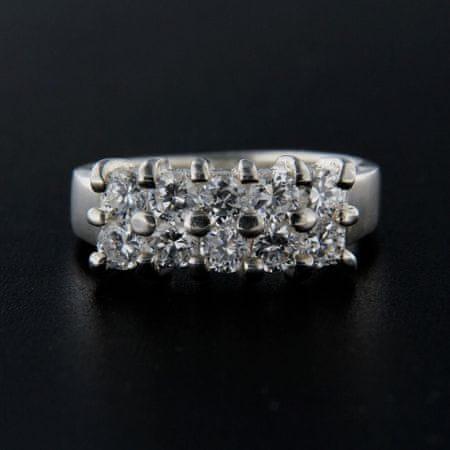 Amiatex Ezüst gyűrű 14283 + Nőin zokni Gatta Calzino Strech, 57
