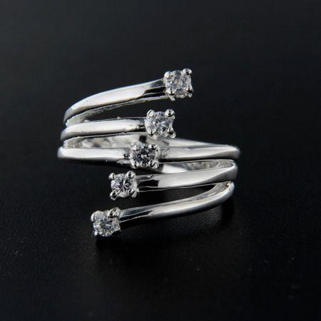 Amiatex Ezüst gyűrű 14287 + Gázmaszk FFP2, 53