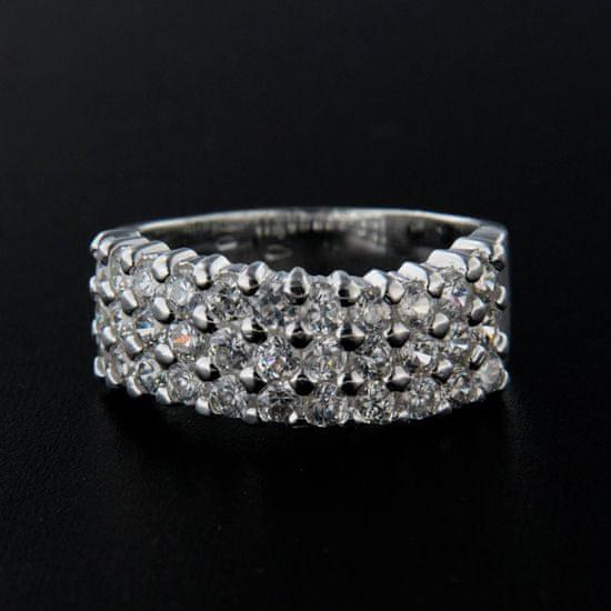 Amiatex Strieborný prsteň 14290 + Nadkolienky Sophia 2pack visone, 61