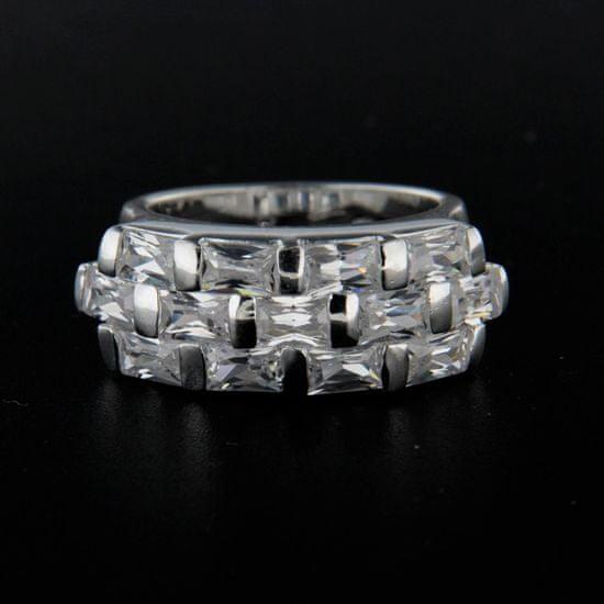 Amiatex Strieborný prsteň 14299 + Nadkolienky Sophia 2pack visone, 55