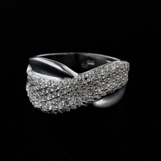Amiatex Strieborný prsteň 14327 + Nadkolienky Sophia 2pack visone, 54