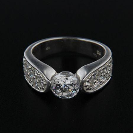 Amiatex Ezüst gyűrű 14309 + Nőin zokni Gatta Calzino Strech, 58