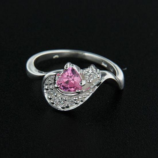 Amiatex Stříbrný prsten 14357 + Ponožky Sophia 2pack visone, 58