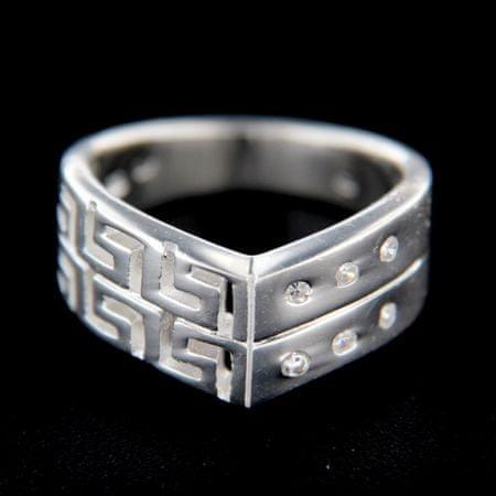Amiatex Ezüst gyűrű 14764, 53