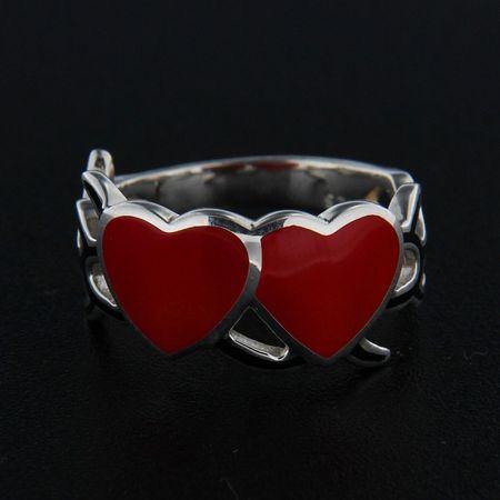 Amiatex Ezüst gyűrű 14346 + Nőin zokni Gatta Calzino Strech, 55