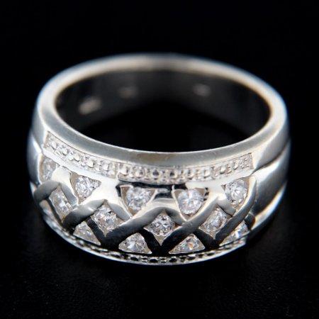 Amiatex Ezüst gyűrű 14765, 57