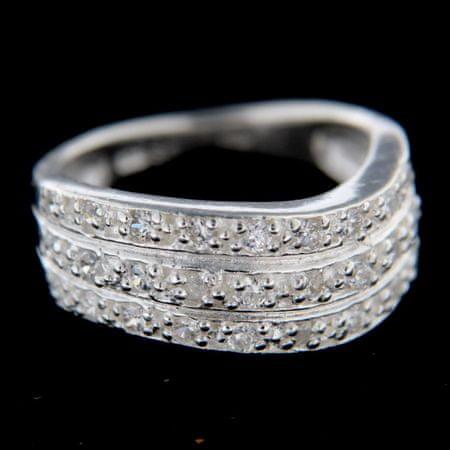 Amiatex Ezüst gyűrű 14781, 56