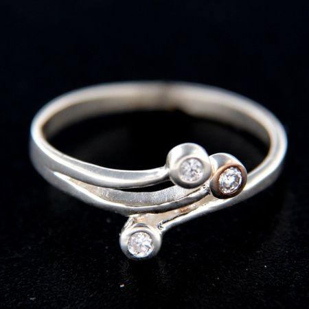 Amiatex Ezüst gyűrű 14778, 58