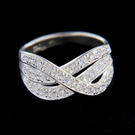 Amiatex Ezüst gyűrű 14822, 56