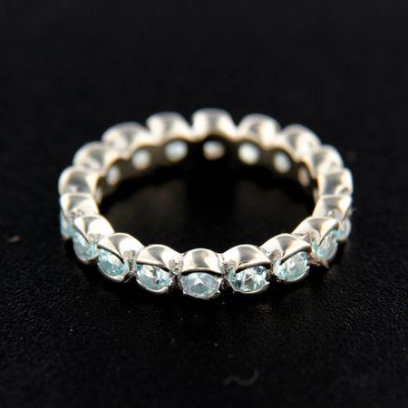 Amiatex Ezüst gyűrű 14840 + Nőin zokni Gatta Calzino Strech, 57