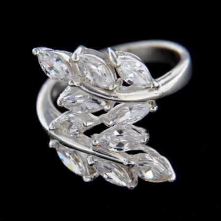 Amiatex Ezüst gyűrű 14831 + Nőin zokni Gatta Calzino Strech, 56