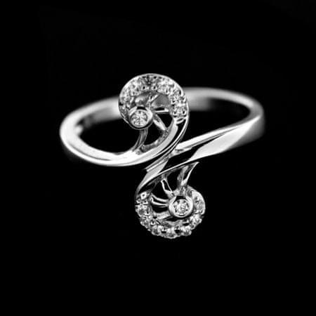 Amiatex Ezüst gyűrű 14927 + Nőin zokni Gatta Calzino Strech, 53