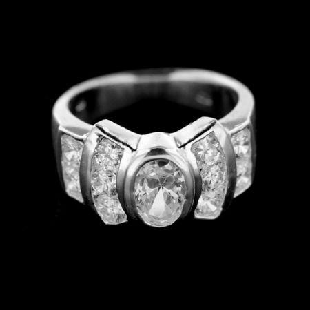Amiatex Ezüst gyűrű 14944, 53