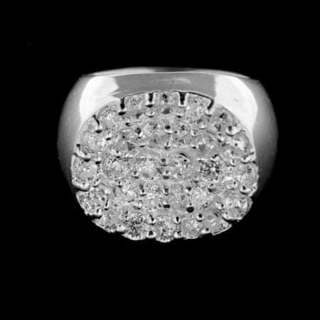 Amiatex Ezüst gyűrű 14962, 53