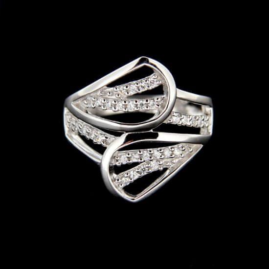 Amiatex Strieborný prsteň 14929 + Respirátor FFP2, 53