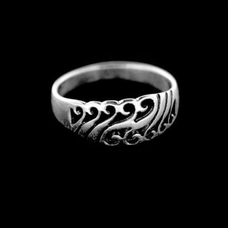 Amiatex Ezüst gyűrű 14997 + Nőin zokni Gatta Calzino Strech, 52