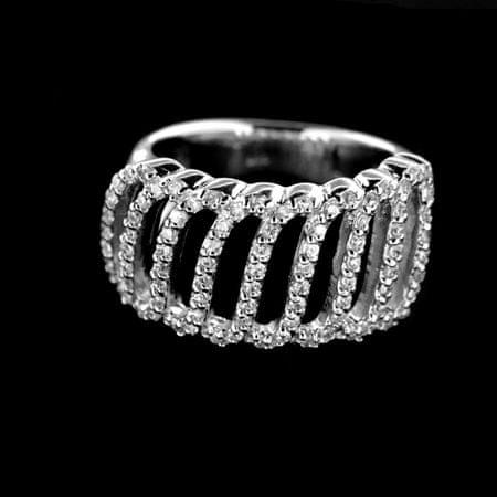 Amiatex Ezüst gyűrű 14974 + Nőin zokni Gatta Calzino Strech, 60