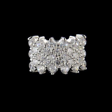 Amiatex Ezüst gyűrű 15196 + Nőin zokni Gatta Calzino Strech, 53
