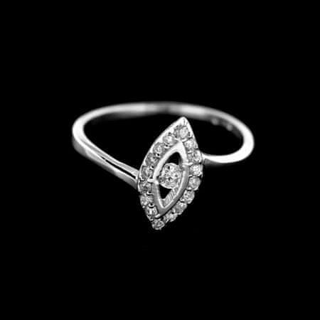 Amiatex Ezüst gyűrű 14917 + Nőin zokni Gatta Calzino Strech, 58