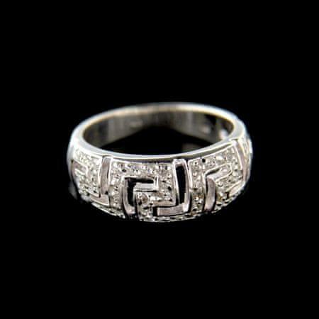 Amiatex Stříbrný prsten 15198, 52