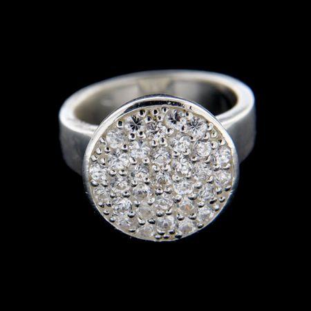 Amiatex Ezüst gyűrű 14942 + Nőin zokni Gatta Calzino Strech, 58